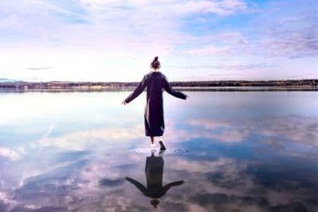 freetoedit girl cloud water reflection
