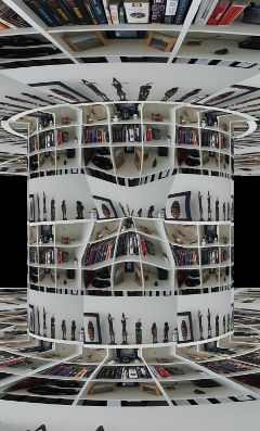 freetoedit trippy bookshelf ornaments circle