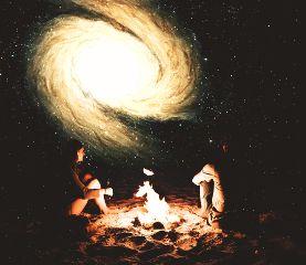 myremix galaxy cosmos nebula nightsky