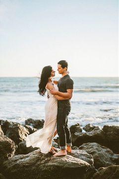 love beach couple marriage photography