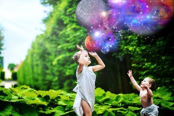 planets kids bubbles earth saturn freetoedit