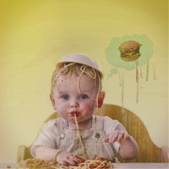 freetoedit baby burger vintagevibes myedit