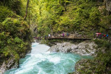 nature slovenia river canyon water