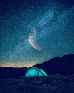 freetoedit interesting moon night camping