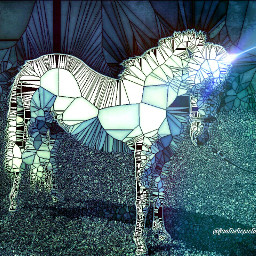 unicorn fantasy glassart white