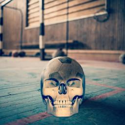 soccerball skullhead scarry💀👻 freetoedit scarry