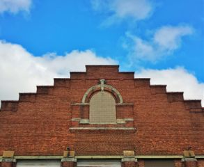 brickwall top blue bluesky front freetoedit
