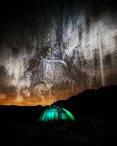 beautiful night camping creativ myart freetoedit