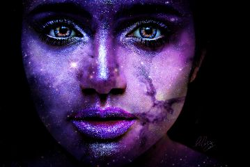 freetoedit girl woman potrait galaxy