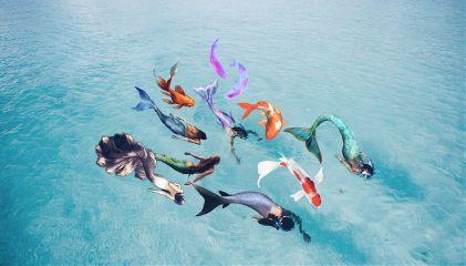 freetoedit mermaid fish