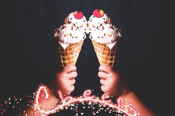 icecream cheers icecreamcone quotesandsayings mirroreffect freetoedit