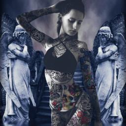 freetoedit tattoo tattooed tattoogirl model