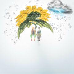 freetoedit flower remixedit rain umbrella