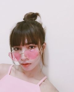 freetoedit interesting girl glasses pink
