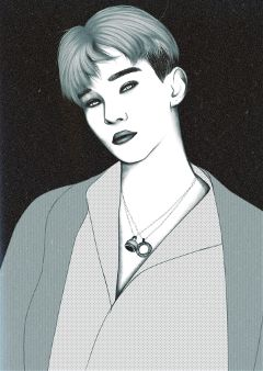 chen jongdae outline freetoedit