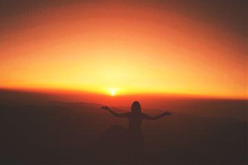 sliuet people sunset sky