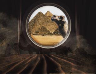 freetoedit shipviewremix egypt camel