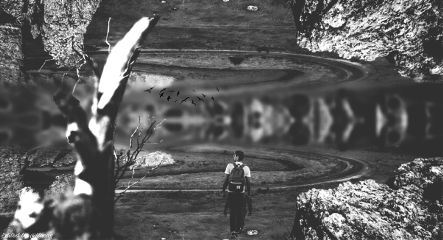 edited madewithpicsart blackandwhite picsart mirroreffect freetoedit