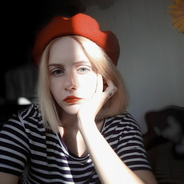 #cute #girl #red #colorful #bokeh