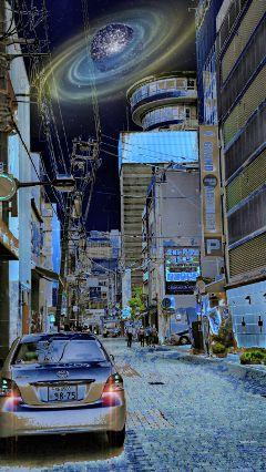 freetoedit street urban japan lensflare