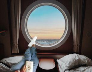 shipviewremix window sunset read relax freetoedit