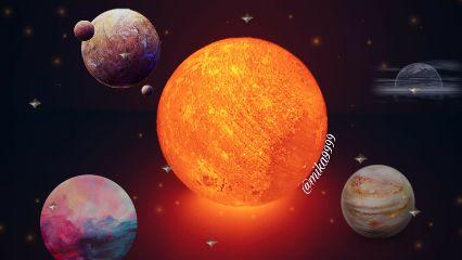 galaxy planets stars freetoedit