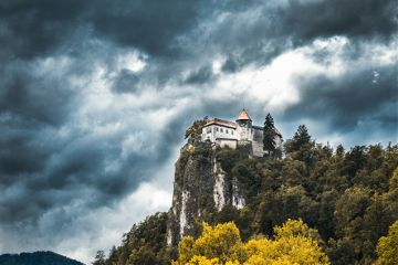 castle hill forest clouds storm