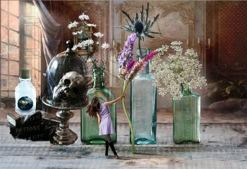 freetoeditflowersremix skullcandy flowervase freetoedit