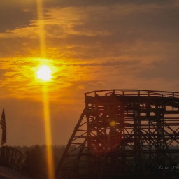 sunsetatthefair washingtonstatefair rollercoaster
