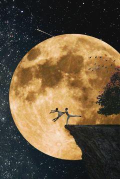 freetoedit editing moon ballerina love