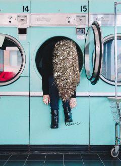 freetoedit glitters girl picsart post