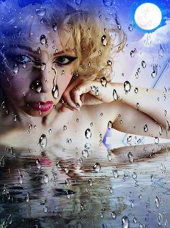 myedit me rain water dropsofwater