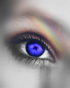 freetoedit eye rainbow grey