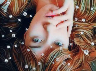 womanportrait diamonds myedit freetoedit