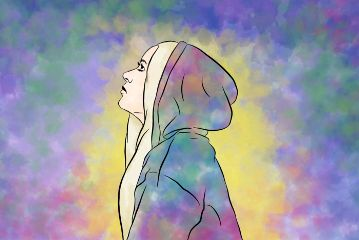 freetoedit drawing girl colorful colors