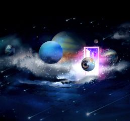 freetoedit planets door art surreal