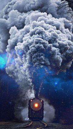 freetoedit train smoke stars galaxy