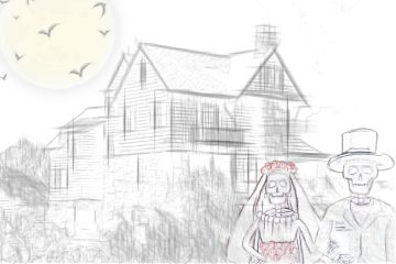 hauntedhouse myedit skeleton dayofthedead wedding freetoedit