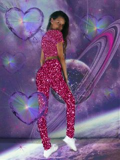 glitter space purple hearts stars freetoedit