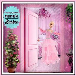 opendoorstickerremix freetoeditsticker dailyremixmechallenge barbiedoll barbie
