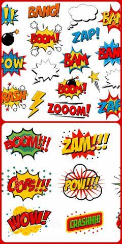 freetoedit comicbook pow boom zam