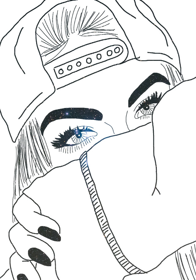 #freetoedit #tumblr #girl #swag #sketched #galaxy @freetoedit