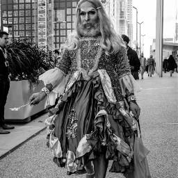 freetoedit dragqueen streetphotography blackandwhitephotography newyorkcity
