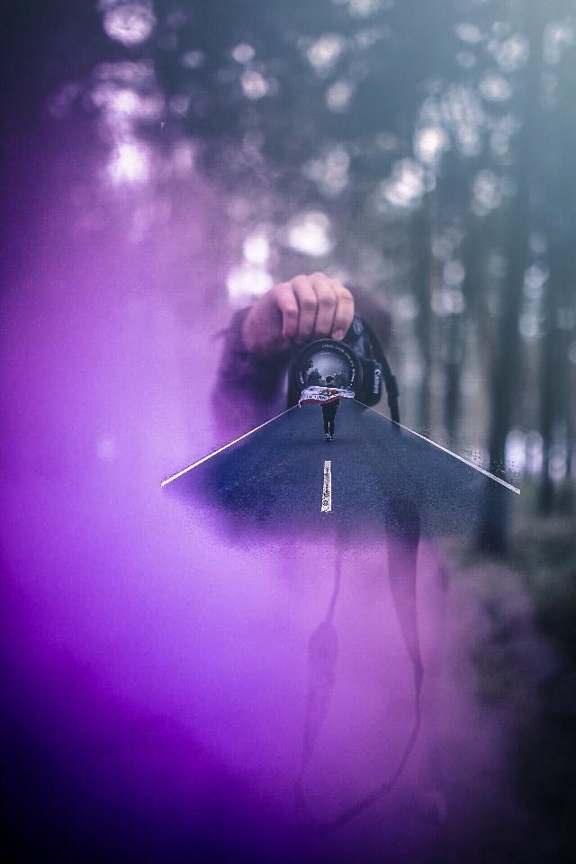 #girl #camera #cam #canon #road #street #forest #forrest #smoke #purple #nature #photography #edit #manipulation #eos1100d #madewithpicsart #picsart #picsartinhand #interesting #amzing