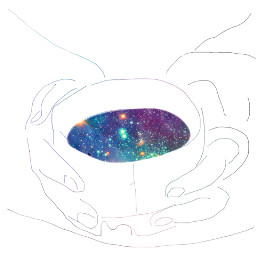 freetoedit galaxy cup hands sketched