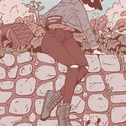 anime art illustration female plants