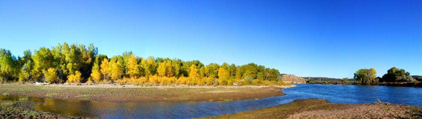 panoramic river autumn