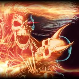 skeleton fire metal heavymetal metalhead