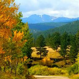 fall mountains trees colorful dpcfallfeels freetoedit