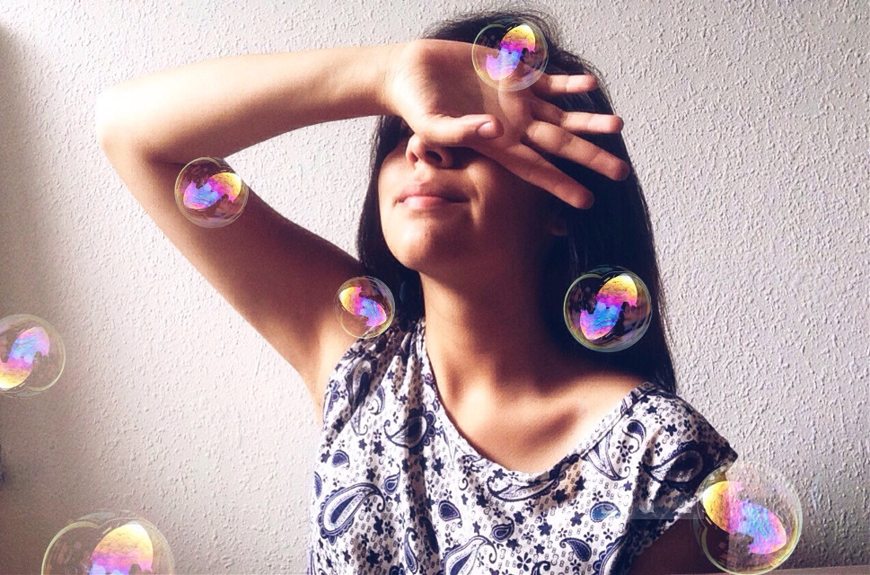 Instagram: gaby_villacres  #freetoedit #bubbles #picsart #tbt #picsartist #girl #tumblr #selfportrait #selfie #happiness #photography #followme #chill #people  #freetoedit